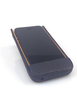 Wünsch & Co Etui für iPhone 5 mit Klappe, Dollaro-Leder, marine