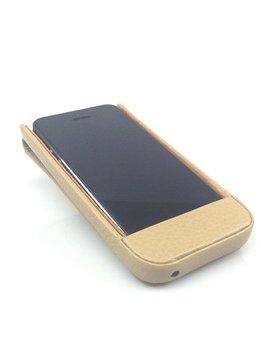 Wünsch & Co Etui für iPhone 5 mit Klappe, Dollaro-Leder, sand
