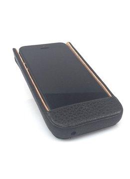 Wünsch & Co Etui für iPhone 5 mit Klappe, Dollaro-Leder, schwarz