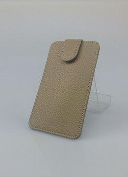Wünsch & Co Etui für iPhone 5, Dollaro-Leder, Magnetverschluss, sandfarben