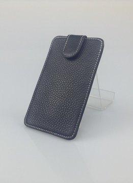 Wünsch & Co Etui für iPhone 5, Dollaro-Leder, Magnetverschluss, schwarz/weiss