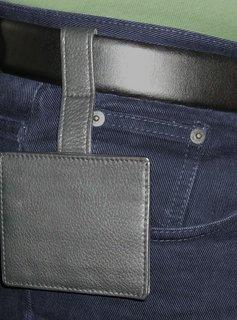 Wünsch & Co Kreditkartenetui für den Gürtel, schwarz