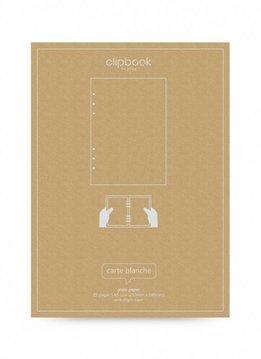 Filofax CLIPBOOK Notizpapier A5 blanco