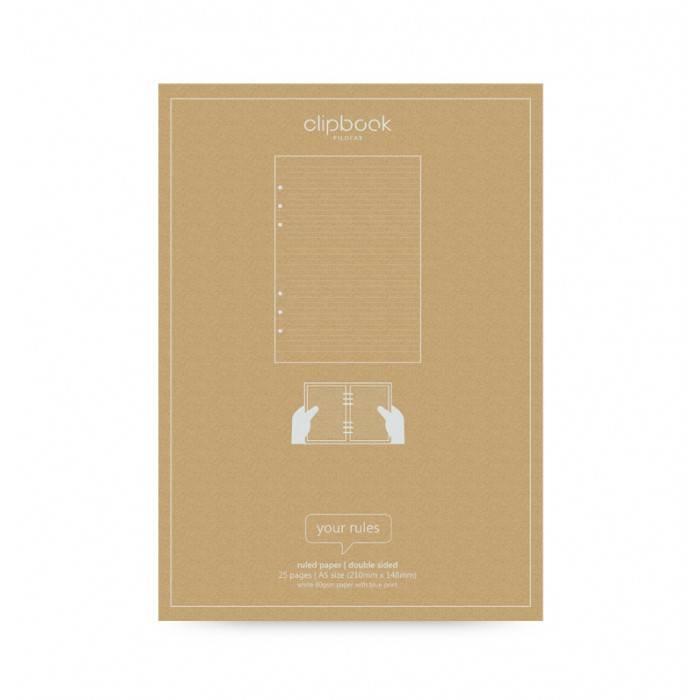 Filofax CLIPBOOK Notizpapier A5 liniert