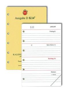 Tebe TeBe-Kalendereinlagen Ausg.D 1W/2S,Pocket