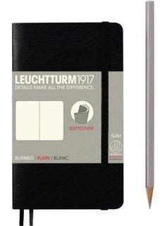 Leuchtturm1917 Notizbuch POCKET A6 SC schwarz blanko