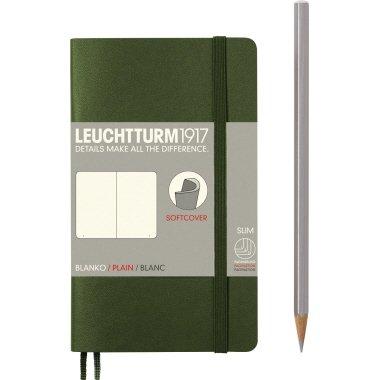Leuchtturm1917 Notizbuch POCKET A6 SC army blanko