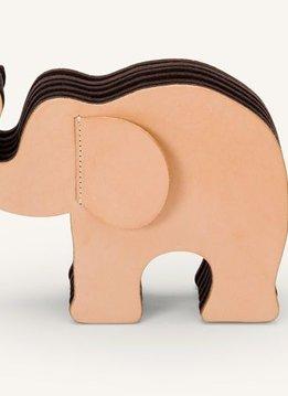 Faber-Castell GvFC Elefant Gross Naturleder mit 12 Polychromos