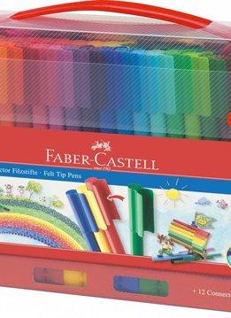 Faber-Castell Faber Castell CONNECTOR Filzstift 60er Koffer