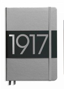 Leuchtturm Notizbuch Medium A5 Hardcover metallic silber dotted