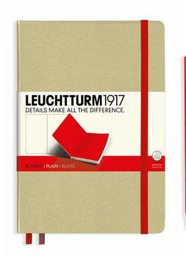 Leuchtturm LT Notizbuch A5 MEDIUM HC sand-rot liniert