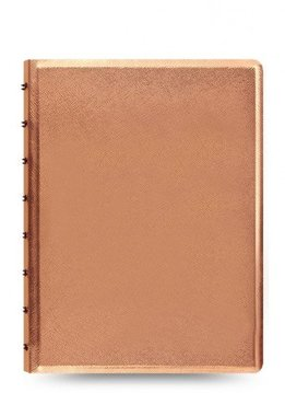 Filofax A5 Notebook SAFFIANO metallic rose gold 17
