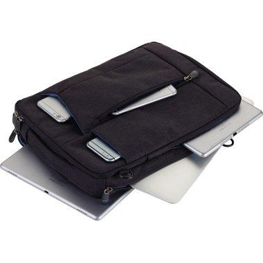 Troika Umhängetasche BAG TO BUSINESS dunkelgrau/petrol f.Tablet+Lap