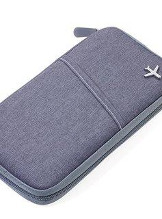 Troika Traveller Etui SAFE FLIGHT mit RFID Schutz grau