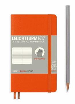 Leuchtturm1917 Notizbuch POCKET A6 Softcover orange liniert