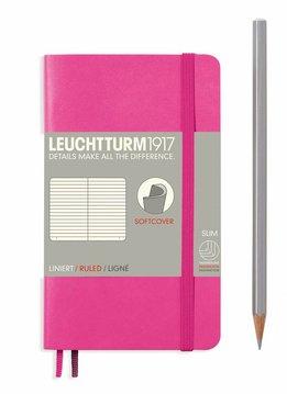 Leuchtturm1917 Notizbuch POCKET A6 SC new pink liniert