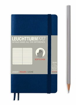 Leuchtturm1917 Notizbuch POCKET A6 Softcover marine liniert