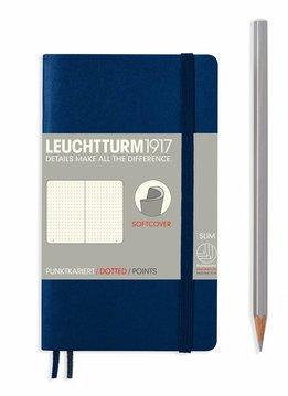 Leuchtturm1917 Notizbuch POCKET A6 Softcover marine dotted