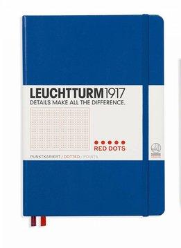 Leuchtturm Albenverlag LT Notizbuch MEDIUM Red Dots königsblau dotted HC