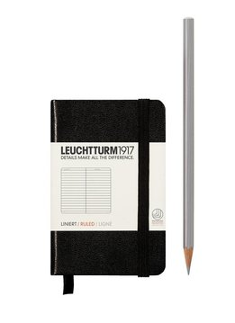Leuchtturm Albenverlag LT Notizbuch MINI A7 HC schwarz,liniert