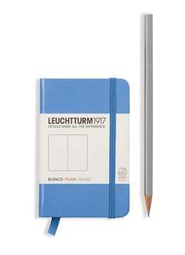 Leuchtturm Albenverlag LT Notizbuch MINI A7 HC kornblume,liniert