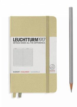 Leuchtturm Albenverlag LT Notizbuch A6 POCKET HC sand kariert