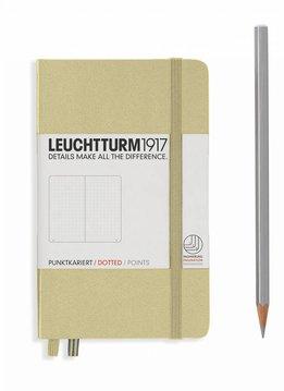 Leuchtturm Albenverlag LT Notizbuch A6 POCKET HC sand dotted