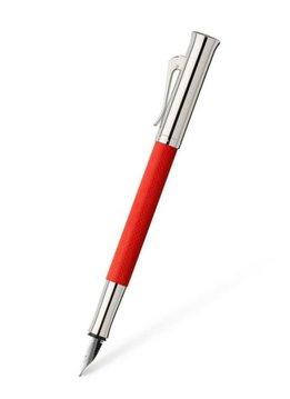 Graf von Faber-Castell Füllhalter Farbwelten Guilloche India Red M