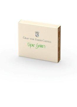 Graf von Faber-Castell Tintenpatronen 6Stk. Viper Green Farbwelten