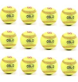 """OSL-2 Softboll Boll, Competition 12"""", Gul, 12 st (1 dussin)"""