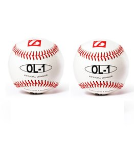 """OL-1 Competition baseballs, Size 9"""" White, 2 pieces"""