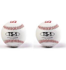 """TS-1 Baseboll Boll Träning, 9"""" (inch), Vit, 2 st"""