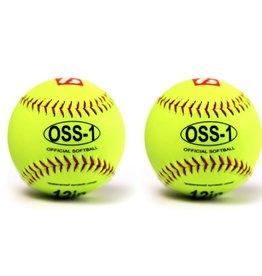 """OSS-1 Softboll Boll, Träning 12"""", Gul, 2 st"""