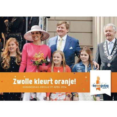 """Het Koningsboek """"Zwolle kleurt oranje!"""""""