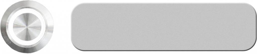 KNOBLOCH Gravierfähiges Aluminium-Namensschild zum Aufkleben