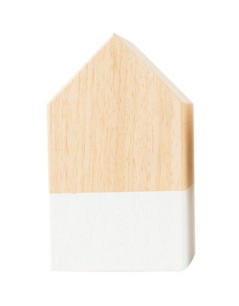 Zoedt Hangemaakt houten huisje - hout wit