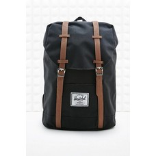 Black and brown backpack