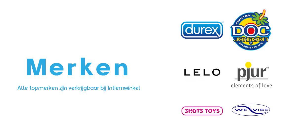 Alle topmerken zijn verkrijgbaar bij Intiemwinkel.nl