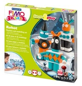 Boetseerset Fimo robots