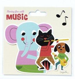 Stickertjes Ingela P. Arrhenius muzikanten