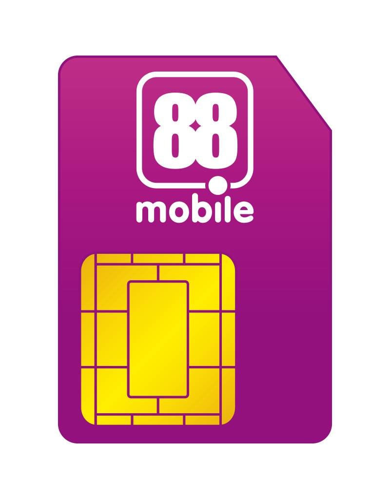 88mobile 1000MB + tot 80 min/sms