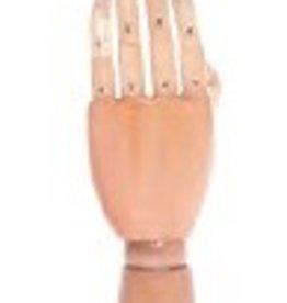 HAND LINKS IN LICHT HOUT H25,5
