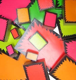 FLUO STER 7X9 PINK 100 st