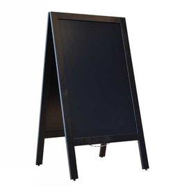stoepbord 75x135 cm zwart