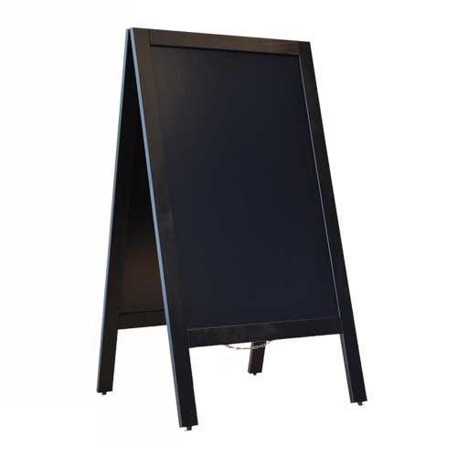 stoepbord 125x70 cm zwart
