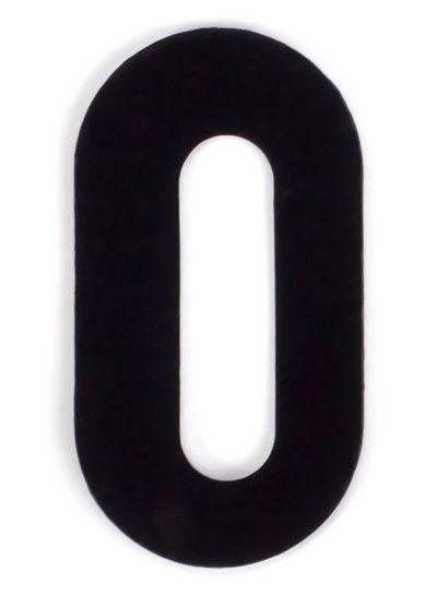 Kaseinzahlen | Nr. 0 | schwarz