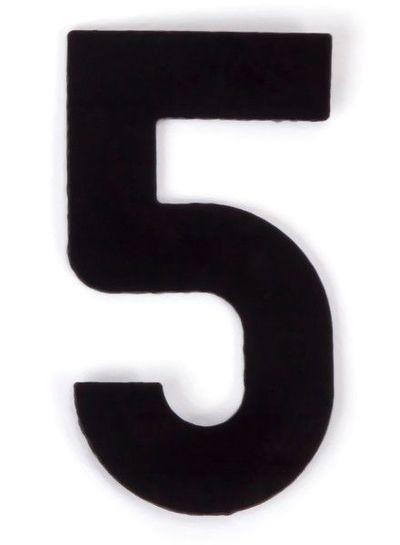Kaseinzahlen   Nr. 5   schwarz