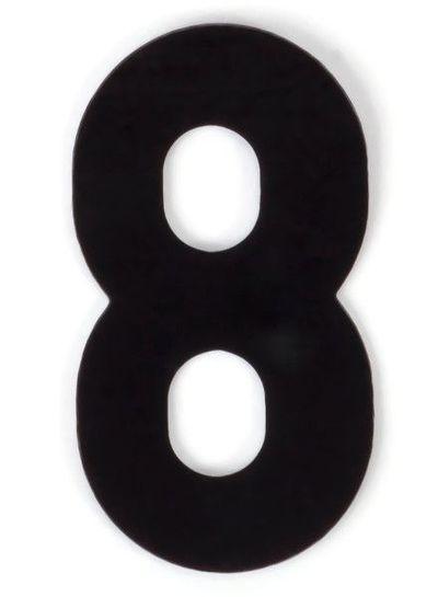Kaseinzahlen | Nr. 8 | schwarz