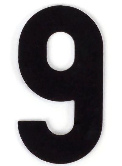 Markieren | Kaseinzahlen | Nr. 9 | schwarz