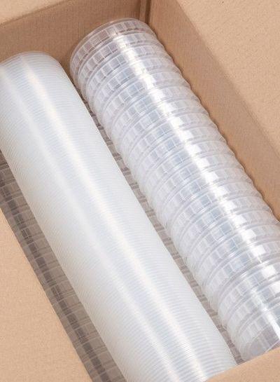 RPC Superfos Rundbecher | 410 ml klar | mit Deckel